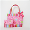 Mini Tote Bag & Purse - Pink Circles
