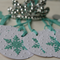 Aqua Snowflake Gift Tags