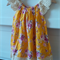 Yellow cabbage rose summer dress