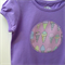 Size 5 Girls Appliqued Tshirt 