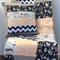 Baby Cot Patchwork Quilt w/ Neutral Colours and Indian Teepee design