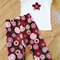 Girls Chocolate & Red Floral Harem Style Corduroy Pants