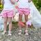 "Love Heart ""Little Miss Fancy Pants"" Shorts ~ Pink, Red, White, Ribbon Size 2-5"