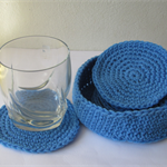 Set of 6 coasters with bowl