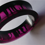 Purple and Black Resin Bangle