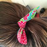 Bunny Ear Pony Tail Hair Ties x 3