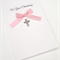 Handmade Christening Card - Baby Girl Pink