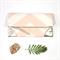 Peach Pink Chevron Fold over Clutch purse/ bridesmaids purse/ wedding