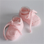 Hand Knitted Shoes | NB to 12M | Custom Colour | Made to Order