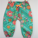'Green Floral' Pants - Sizes: 0-6mths, 6-12mths, 12-18mths