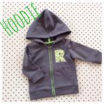 Letter hoodie grey green zip jacket with hood jumper  chevrons 000 or 00