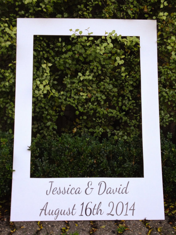 Giant oversized polaroid frame, with 33 photobooth props, great for ...