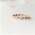 Rose gold twisted rope ring, stacking ring