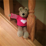 Paige - Hand Knitted Teddy Bear Toy