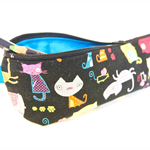 Zippered Pencil Case / Pouch - Whimsical Cats