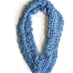 Crochet cowl for women spring cowl  pale blue infinity scarf moebius cowl