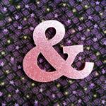 Laser cut pink glitter Ampersand