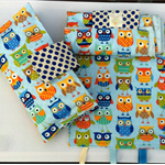 Nappy Diaper Change Mat with Nappy Wallet and Tag Blankie Blue Owls