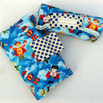 Nappy Diaper Change Mat with Nappy Wallet Blue Super Heroes