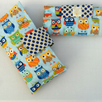 Nappy Diaper Change Mat with Nappy Wallet Blue Owls