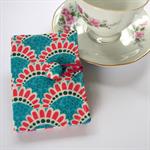 Tea Bag Wallet - Hot Pink Harbour Bridges on Turquoise Blue