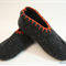 Washable Felt Slippers with leather or recycled car tube rubber soles, EU38 - 40