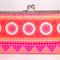 Bliss in tangerine large clutch purse