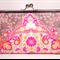 Kaleidoscope in pink large clutch purse