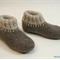 Washable woollen Felt Slippers with leather soles, EU 28 - 30