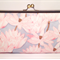 Lotus in gray large clutch purse