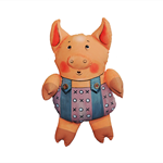 little pig - soft sculpture, art doll.