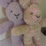 "Snuggletime Easter Bunny - ""Lola and Paula"" softie."