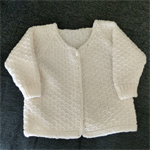 Hand knitted baby jacket in Paton's Bluebell pure wool