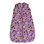 Spotty Purple Baby Sleeping Bag 0-6 months 1.0 tog READY MADE