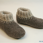 Washable woollen Felt Slippers with leather soles