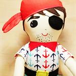 Original Pirate doll boy  anchors