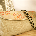 Linen & Chinese Print Wedding Gift Purses