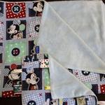 Handmade Micky Mouse Pram Blanket & Taggie set