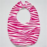 BUY 3 GET 4th FREE Hot Pink Zebra Print Bib