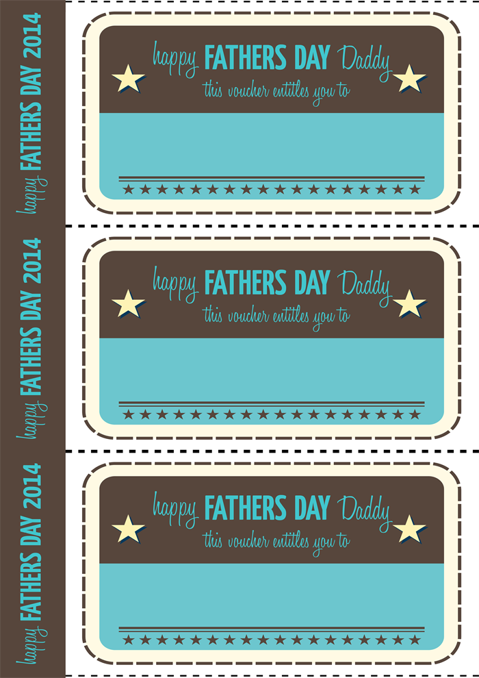 Fathers Day Printable Vouchers vintage style – Printable Vouchers