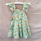 Tea ruffle dress in aqua floral sz 0 - 5
