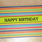 Male Happy Birthday card - stripes