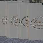10 Handmade with Love Tags in Black Ink