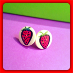 Cute as a Button Earrings - with Stud - Various designs, made to order
