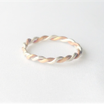 Two tone twisted rope ring, stacking ring