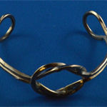 Reef knot bangle recycled copper