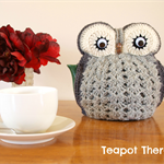 Grey Owl Tea Cosy to fit a 4 Cup Pot - made to order