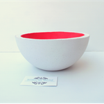 Neon Pink Lunar Concrete Key / Fruit Bowl - Urban Decor