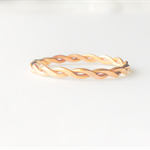 14k gold filled twisted rope ring, stacking ring