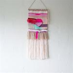 Woven Wall art - Pink Shuswap - kids room deco, woven, tapestry